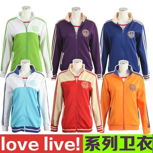 6Colors LoveLive!School Idol ProjectCosplay Costumes Unisex Sport Suit
