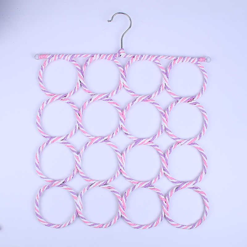 9/12/16/28 отверстий вешалка для шарфа многоцветные шарфы дисплей подвесные стяжки ремень организовать круг держатель для хранения вешалка для одежды 1 шт