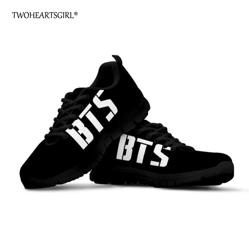 Twoheartsgirl Women Flat Shoes Black Kpop BTS Sneakers for Women Breathable Female Ladies Summer Mesh Shoes Flats Plus Size yowoo fpv 450 500 akku lipo battery 2s 3s 7 4v 11 1v 5000mah 50c max 100c for traxxas helicopter fpv 450 airplane quadcopter car