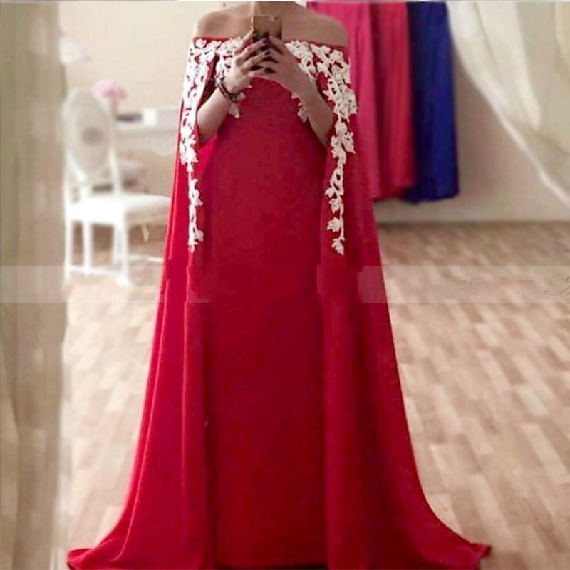 Abiye   Prom     Dresses   Red Custom Made gala jurken Elegant Formal   Dress   Appliques Customized Arabian   Prom   Gowns Long Floor Length