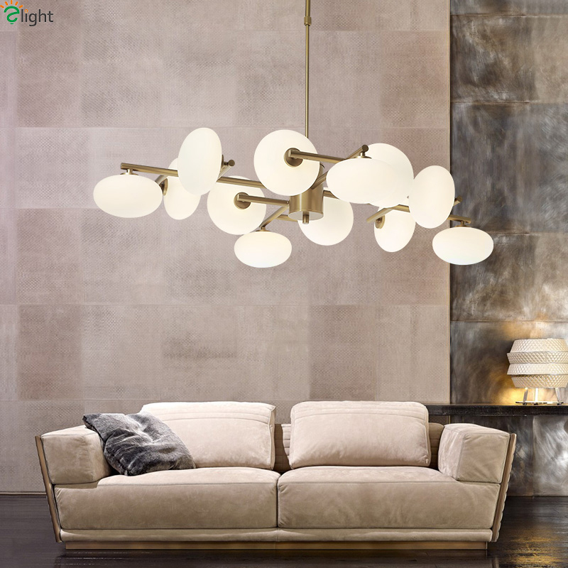 Modern Gold Metal Led Pendant Lights Dining Room Led Pendant Lamp Glass Ball Living Room Led Pendant Light Hanging Light Fixture modern mirror sliver glass pendant lights lustres spherical globle ball pendant lamps hanging light fixture luminaria