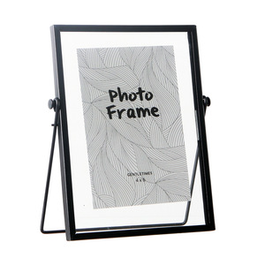 Image 4 - Nordic Geometric Metal Glass Photo Frame Creative Wall Decoration Photo Decorative Picture Frame 4 6 7 Inch