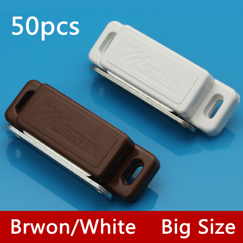 50pcs G75 Wholesale White/Brown Magnetic Touch Nylon Cabinet Door Catches Stop With Screws For Furniture Hardware50pcs G75 Wholesale White/Brown Magnetic Touch Nylon Cabinet Door Catches Stop With Screws For Furniture Hardware