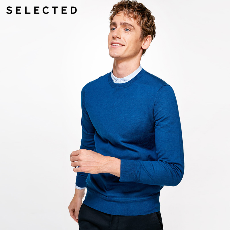 SELECTED Men Leisure Knitted Sweater |417424507