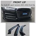 ABS Front Lip Stoßstange Splitter Schürze für Audi A6 sport version 2015 2017 Auto Styling-in Bodykits aus Kraftfahrzeuge und Motorräder bei