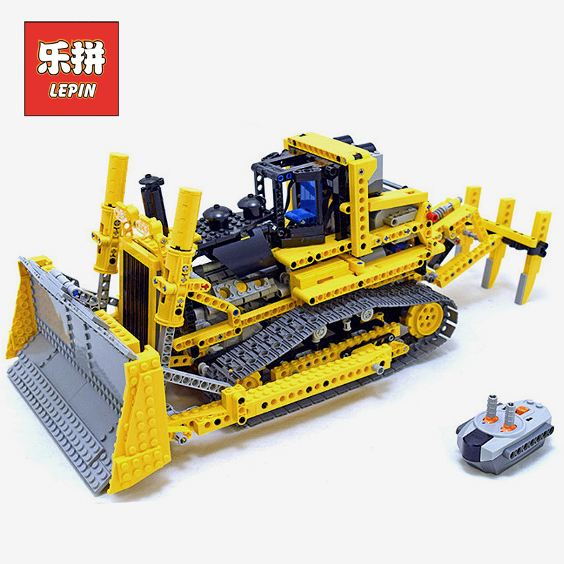LEPIN 20008 Technic RC Remote Control the Heavy Bulldozer Model Assembling Legoings Building Block Bricks kits Compatible 8275 lepin 20008 technic series remote contro lthe bulldozer model assembling building block bricks kits compatible with 42030