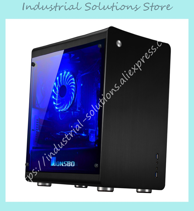 NEW MATX Computer Chassis Bilateral Through Support The Back Line Jonsbo RM3 ITX Aluminum Chassis gresso gresso для huawei mediapad t1 8 0