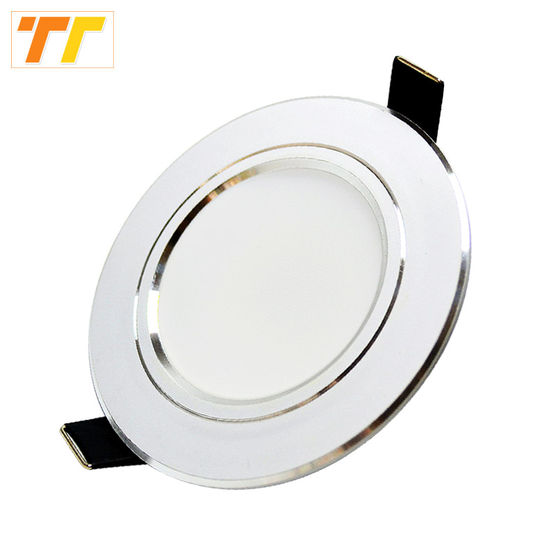 6Pcs / lot Led Downlight 3W 5W 7W 9W 12W 15W 18W 220V 110V Led spotlight Hjem Innendørsbelysning gratis frakt