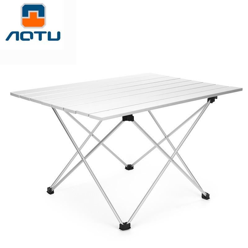 Tables pliantes en aluminium portatives de Camping de Table compacte extérieure avec le sac de transport pour le pique-nique de cuisine