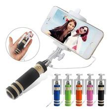 Мини Складная Проводная селфи палка ручной выдвижной монопод Нескользящая ручка для iPhone 6/6 S plus/samsung