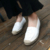 2017 Niñas Slipony Mujeres Zapatos Planos Alpargatas De Lona Rhinestone Diseñador de la Marca Pisos Mocasines Horsebit holgazán Tachonado