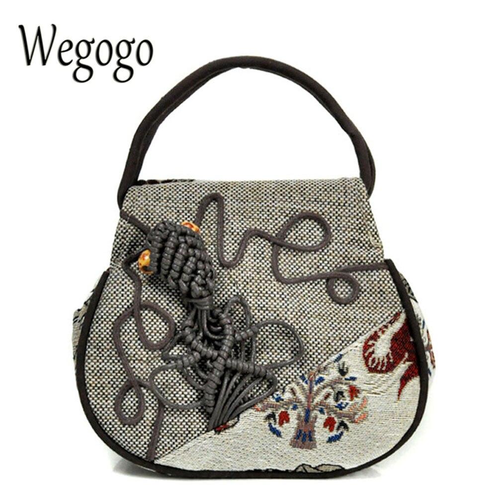 Vintage embroidery bag national ethnic elephant