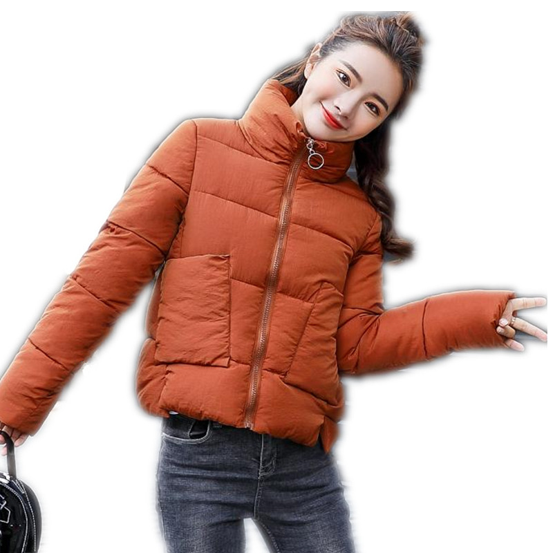 Fashion Winter Jacket Women Cotton Coat Hooded Down   Parkas   Female Short Jackets Slim Warm Outerwear Chaqueta Mujer New2018CQ2073
