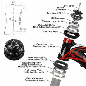 """Image 5 - 15.5/17 """"Xe Đạp Khung Hình 26er Xe Đạp MTB Bộ Khung Nhôm Frameset 44 56mm Thon Gọn BB68 đi xe đạp Frameset Phụ Kiện"""