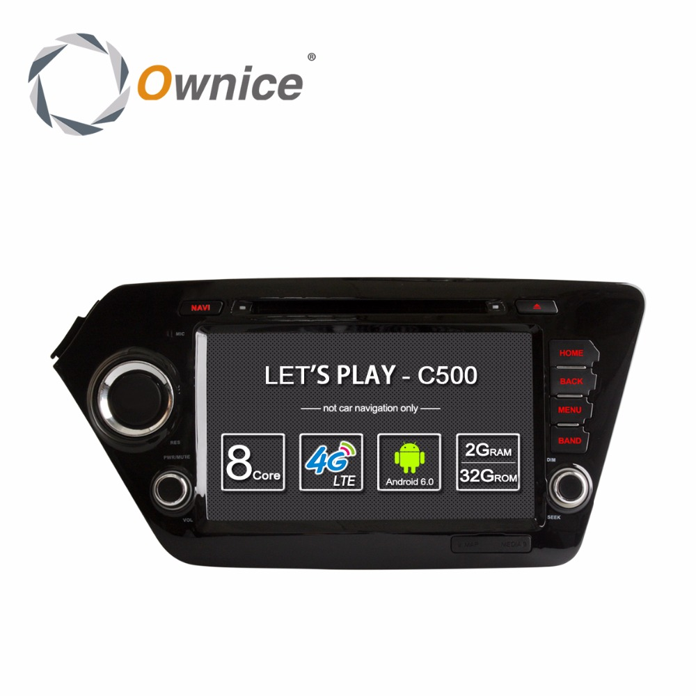 Android 6.0 Octa Core 2GB RAM Car DVD Player for KIA RIO K2 2010 2011 2012 2013 2014 Radio GPS Stereo Support 4G LTE
