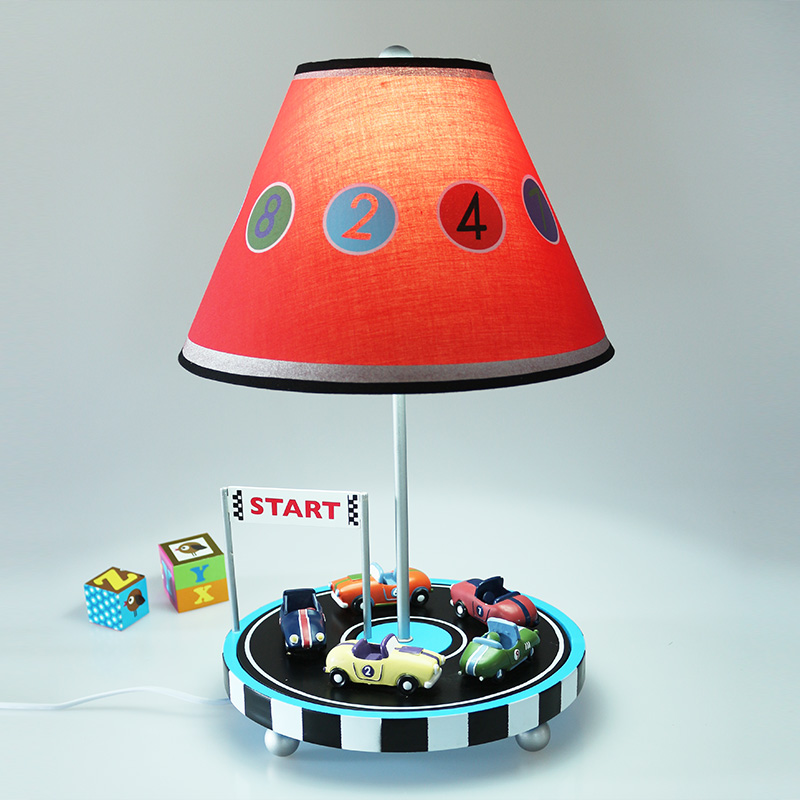 Children car table lamp Mediterranean bedroom bedside lamp creative boys room warm and lovely cartoon lamp TA9211 chic golden hollow rounded rectangle hasp bracelet for women