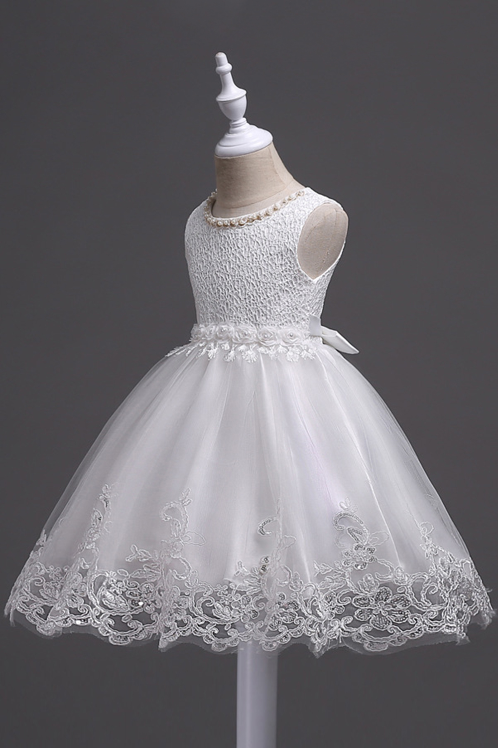 Lovely Lace Short Prom Dresses Little Girl Ball Gowns Dress Party Flower Girl Dresses For Wedding First Communion Birthday Dress