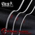 Beier colar de torção de alta qualidade de aço inoxidável 3mm/4mm/5mm colar de corrente da moda homem menino colar bn1026