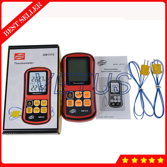 GM1312 Digital K Type Thermocouple Temperature Meter Monitor 50~300 C Thermometer Termometro