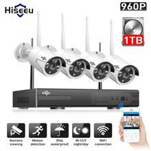 Hiseeu 960 P NVR 4 шт. 960 P беспроводная система видеонаблюдения наружная ip-камера Wi-Fi водостойкая видеонаблюдение комплект видеонаблюдения IP Pro