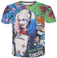 Newest style Harley Quinn T-shirt Women Men 3D Hip-hop clownTops Fashion Clothing Outfits Summer Style t shirt tees tshirts