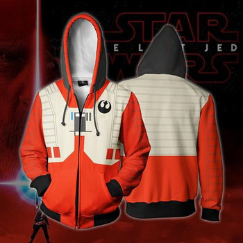 Movie Movie Star Wars Darth Vader Men Sweatshirts Hoodie Cosplay Costume Jackets Zipper Hoded star wars face mask darth vader mandalorian cosplay costume accessories anime adult masks