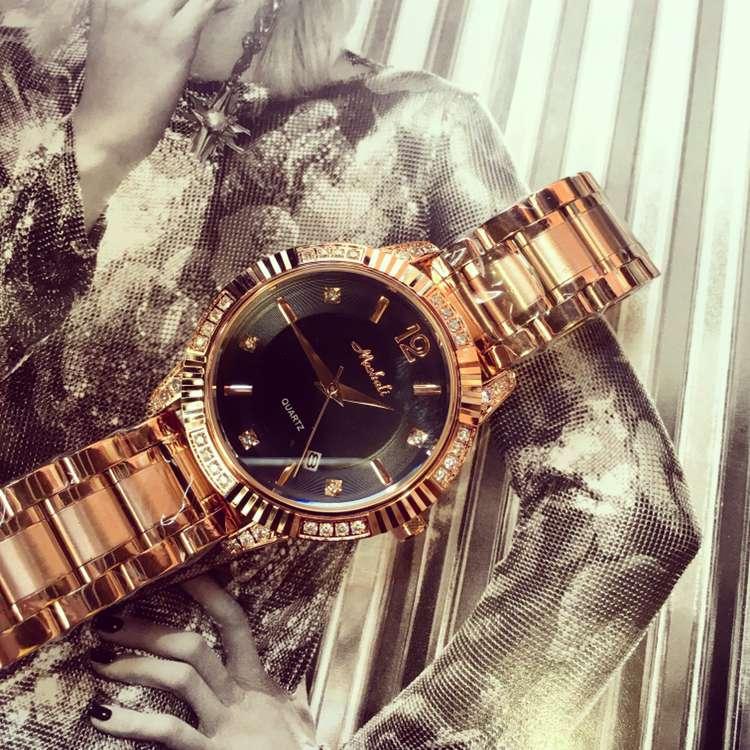 ФОТО Luxury Brand New Wristwatch Women Fashion Casual Dress Calender Quartz Watch Lady Women's Girl Delicate Crystals Watches OP001