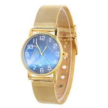 5 Style Life Waterproof Hour Men Women's Unisex Neutral Clock Stainless Steel Mesh Band Watch Chronograph Quartz-Watch Relojes