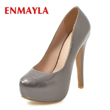 ENMAYLA Pointed Toe Synthetic Casual Slip-On Calzado Mujer Shoes Woman High Heel Size 34-44 ZYL2291
