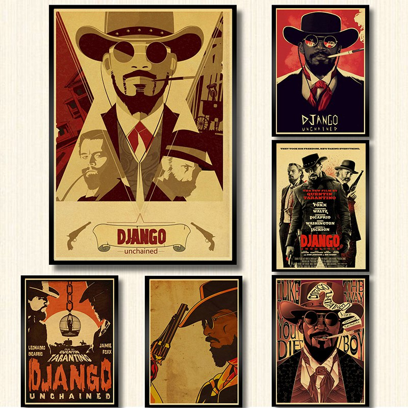 Quentin Tarantino Series Movie Django Unchained Poster Kraft Paper Print Wall Art Painting Vintage Poster Home Decor