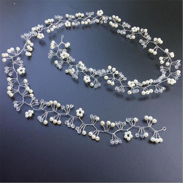 CC Jewelry Wedding Headband Head Crowns Flower Party Wedding Hair Accessories For Women Bridal Crown Bride Tiara Romantic 0403