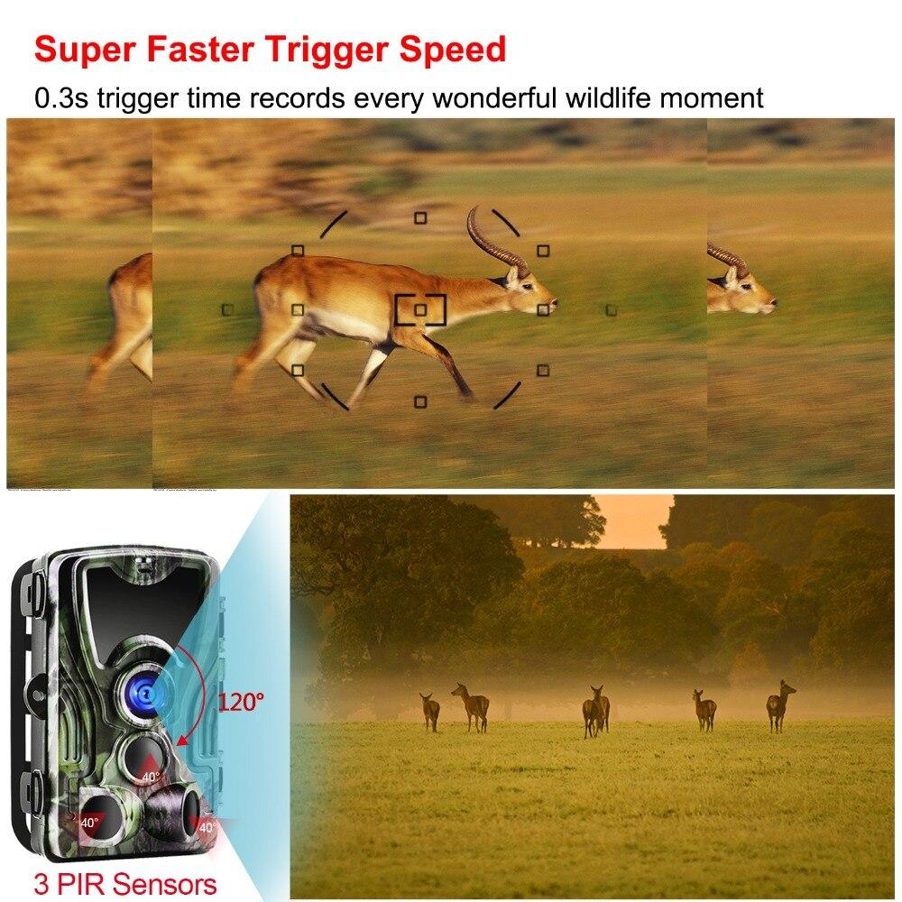 Goujxcy HC801A caméra de Chasse 16MP caméra de sentier Vision nocturne forêt étanche caméra de faune photo pièges caméra Chasse Scouts - 5
