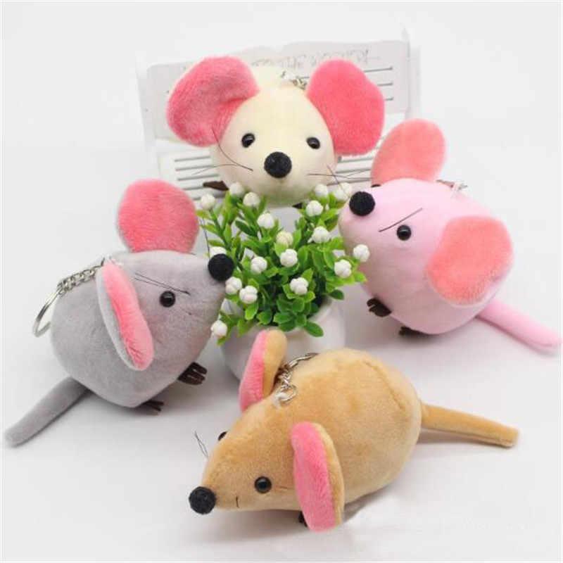 """Милые комплекты одежды из 2 предметов; с плюшевой подкладкой Мышь игрушки небольшой кулон Мини Новый год талисман мягкие большими ушами кролика игрушка """"мышь"""" для детей подарки 10 см"""