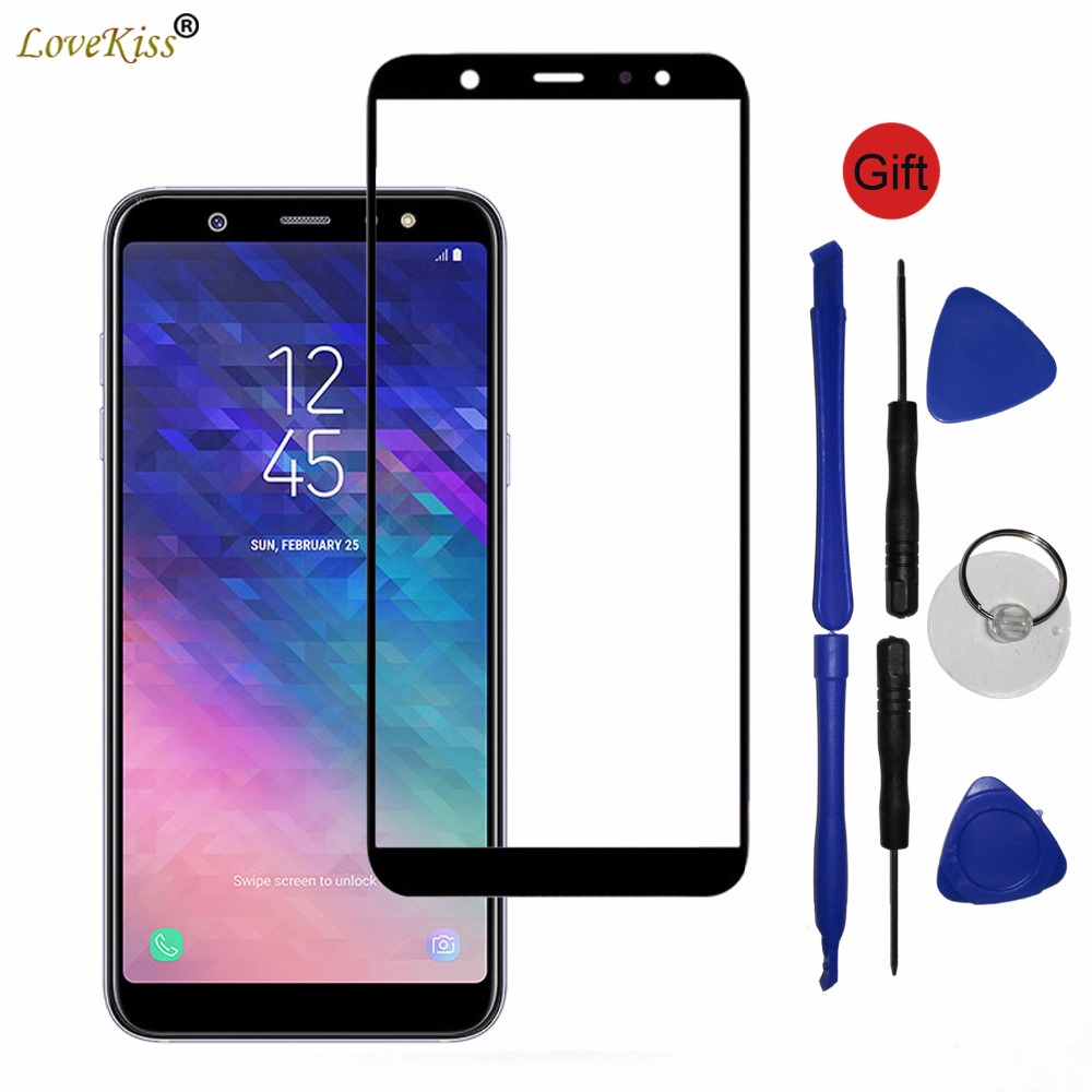 Self-Conscious A6 Plus 2018 Touchscreen For Samsung Galaxy A6 Plus A6+ 2018 A600f A605f Touch Screen Sensor Glass Lcd Display Front Panel Cover