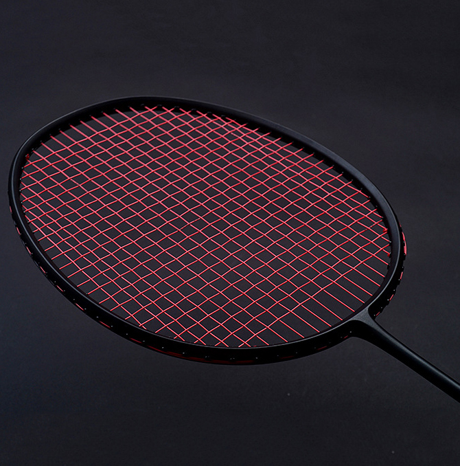 Training Badminton Rackets Weight 120g/150g/180g Full Carbon Single Raquet With A Bag