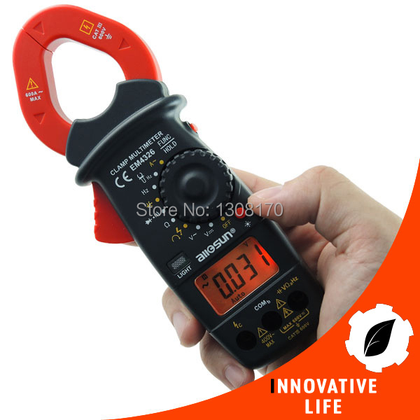 Digital Clamp Meter Autorange Phase Sequence Test DC AC Voltage AC Current Frequency Resistance Continuity Diode Tester + Buzzer clip on ammeter digital clamp meter current voltage resistance test clamp meter