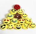 30 pçs/lote 5 cm Macio Bonito Emoji Smiley Emoticon Pingente Redondo Amarelo Boneca de Brinquedo de Pelúcia de Presente de Natal