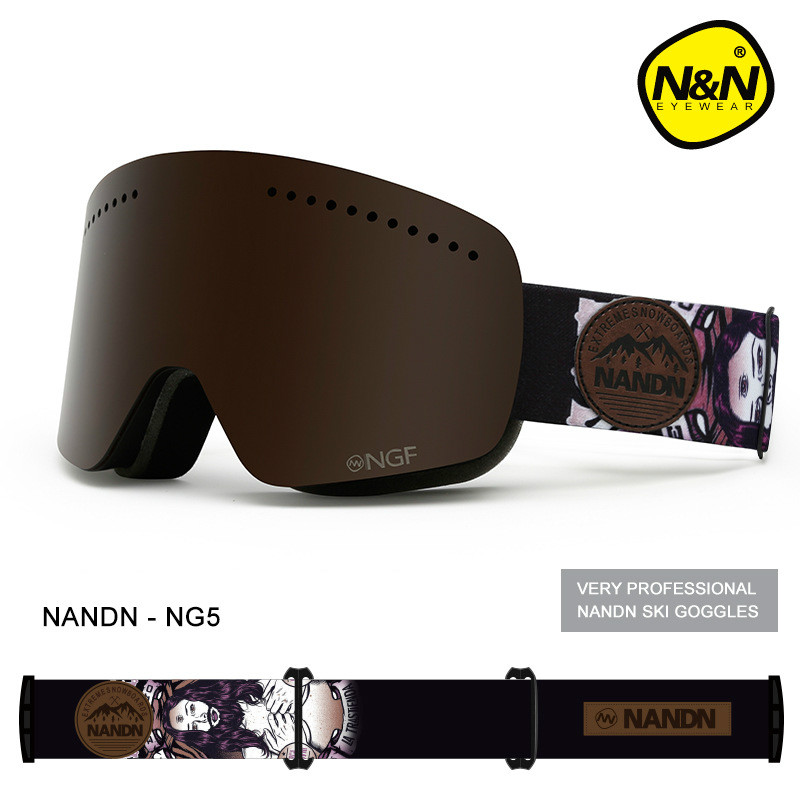 купить NANDN Unisex Ski Goggles Double UV Anti-fog Big Ski Mask Glasses Women Men Skiing Snow Snowboard Goggles Multifunction Eyewear по цене 2978.29 рублей