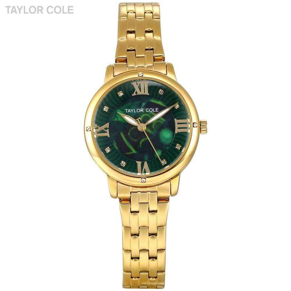 Luxury Brand Taylor Cole Quartz Watch Golden Case Elegant Stainless Steel Strap relogio feminino Women Causal Dress Watch /TC127 taylor cole relogio tc013