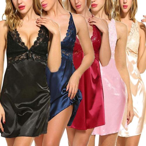 a1da2e3d7 Mulheres Sexy Lace Lingerie Vestido Nightdress Underwear Borboleta Senhoras Babydoll  Sleepwear Tops Do Sono