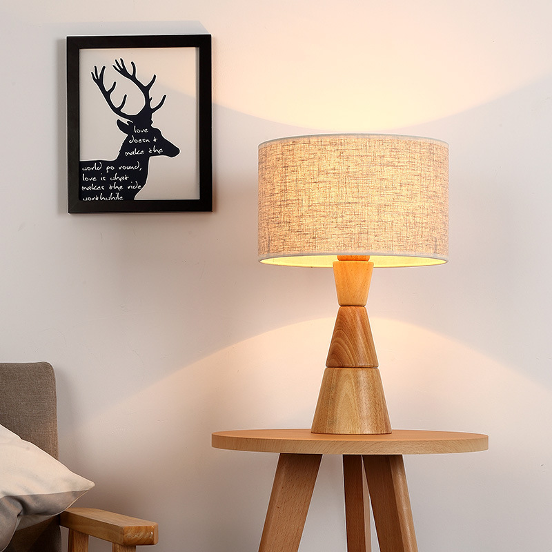 Tuda Free Shipping Janpanese Style Table Lamp Modern Minimalist Table Lamp Living Room Study Room Creative Wooden Eye Care Lamp modern minimalist living room floor desk lamp dimming study creative table lamp lighting