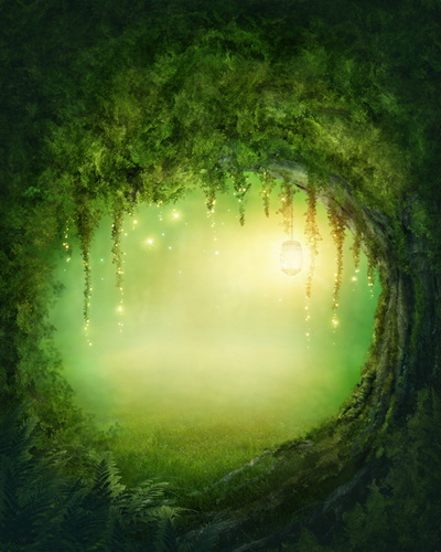 Huayi Green Fairy Tale Photography Backdrop Background Printed With Green Light Photo Studio Newborn Artfabric Wallpaper D 8439 In Background From Consumer