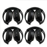 For HQ 4PCS IR Wireless Headphones Headsets for Car DVD Player L Flip Down & Headrest