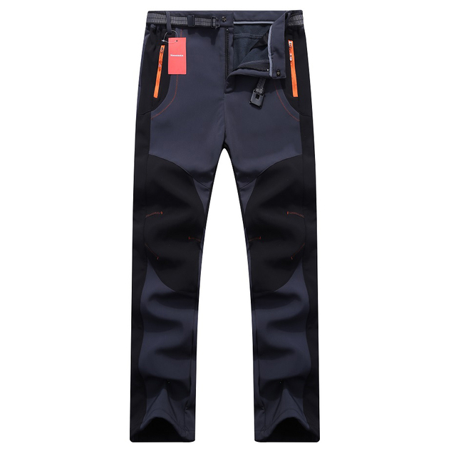 Men Women Hiking Pants Softshell Trousers Waterproof Windproof Thermal for Camping Ski
