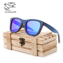 New Handmade Colored Wood Frame Multicolor Glasses Retro Fashion Square Womens Sunglasses Ultraviolet-proof TAC