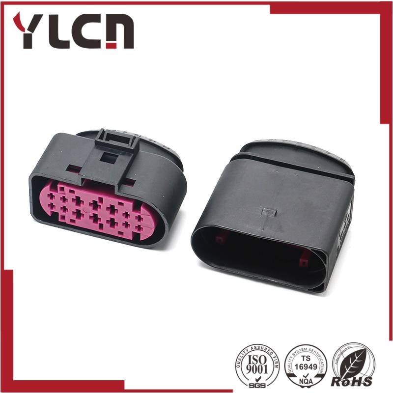 free shipping 14 Way Connector Auto xenon headlights lamp socket For VW Golf MK6 1J0973737 1J0 973 737