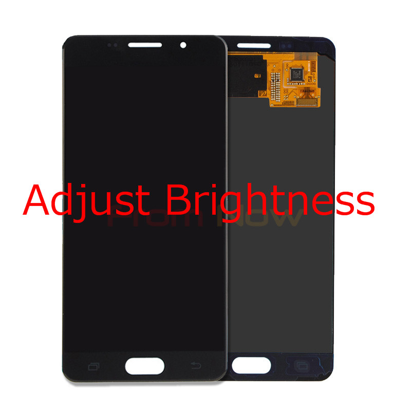 For Samsung Galaxy A5 2016 A510F A510M LCD Display With Touch Screen Digitizer Assembly 100% Tested Adjust BrightnessFor Samsung Galaxy A5 2016 A510F A510M LCD Display With Touch Screen Digitizer Assembly 100% Tested Adjust Brightness