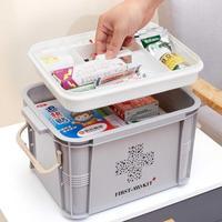 Новейшая Аптечка коробка пластиковый контейнер аварийный комплект портативный многослойный большой емкости органайзер для хранения