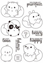 Just hatched cute baby Clear Silicone Stamp/Seal for DIY scrapbooking/photo album Decorative clear stamp sheets