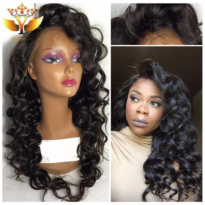 African American Human Hair Half Wigs Full Lace Human Hair